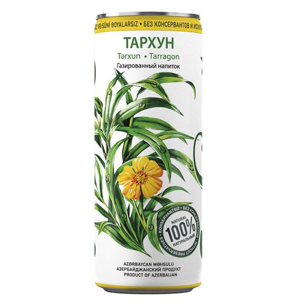 Лимонад Шахдаг Тархун 0.33 литра, ж/б, 24 шт. в уп.