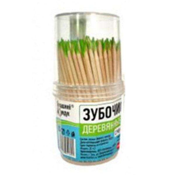 Зубочистки Домашний сундук с ментолом 190 шт