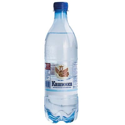 Вода Кашинка 0.6 литра, без газа, пэт, 12шт. в уп.