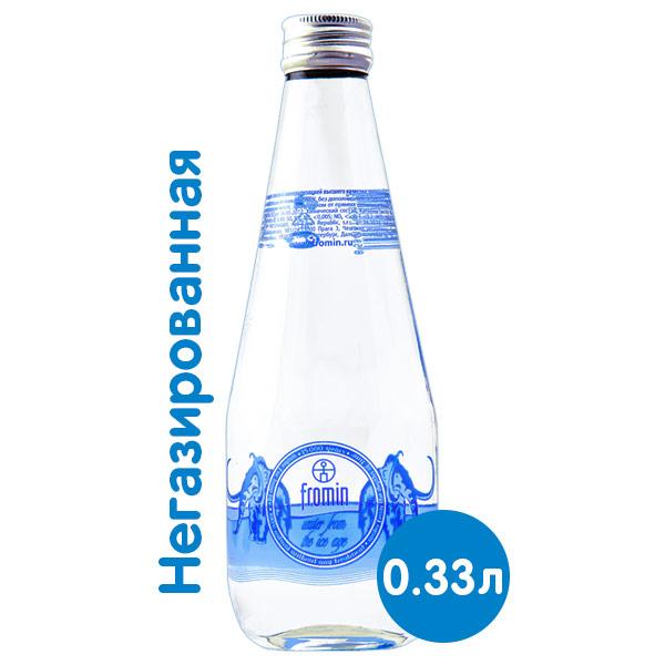 Вода Fromin 0.33 литра, без газа, стекло, 12 шт. в уп. фото
