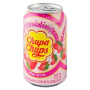 Chupa Chups / Чупа Чупс Strawberry cream импорт 0.345 литра, ж/б, 24 шт. в уп.