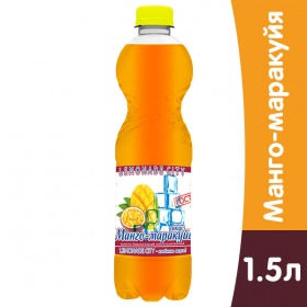 Lemonade City Манго-Маракуйя, 1,5 литра, газ, пэт, 6 шт. в уп