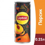 Lipton Ice Tea / Липтон Персик 0.25 литра, ж/б, 12 шт. в уп.